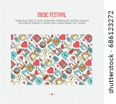 music festival concept with... | Shutterstock .eps vector #686123272
