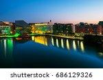 dublin  ireland. aerial view of ... | Shutterstock . vector #686129326