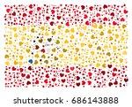 abstract spanish national flag  ... | Shutterstock .eps vector #686143888