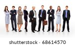 young attractive business... | Shutterstock . vector #68614570