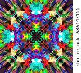 digital painting beautiful... | Shutterstock . vector #686147155