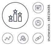 set of 6 optimization outline... | Shutterstock .eps vector #686156686