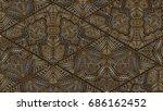 vector horizontal card pattern. ... | Shutterstock .eps vector #686162452