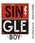 single boy t shirt print poster ... | Shutterstock .eps vector #686163088
