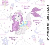 seamless pattern with cute... | Shutterstock .eps vector #686165215