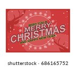 vector image christmas... | Shutterstock .eps vector #686165752