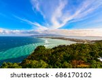 aerial view of boracay island... | Shutterstock . vector #686170102