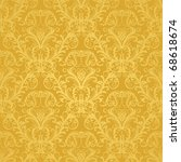 Luxury Seamless Golden Floral...
