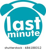 blue icon alarm with last... | Shutterstock .eps vector #686188312