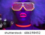 fantastic video of sexy cyber... | Shutterstock . vector #686198452