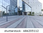 empty floor with modern... | Shutterstock . vector #686205112