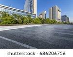 empty floor with modern... | Shutterstock . vector #686206756