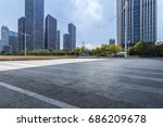 empty floor with modern... | Shutterstock . vector #686209678