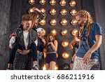 group of friends have fun... | Shutterstock . vector #686211916