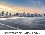 panoramic skyline and buildings ... | Shutterstock . vector #686212372