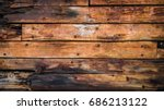 Old Wood Boards On The Deck An...