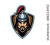nomad steppe medieval warrior... | Shutterstock .eps vector #686213452