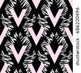 seamless repeating textile  ink ...   Shutterstock .eps vector #686220496