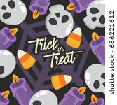 halloween day   vector... | Shutterstock .eps vector #686221612