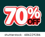 sale tag  70 percent off ... | Shutterstock .eps vector #686229286
