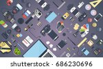 professional photographer... | Shutterstock .eps vector #686230696