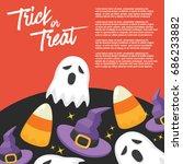 halloween day   vector... | Shutterstock .eps vector #686233882