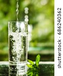 cool fresh water with ice and... | Shutterstock . vector #686240362