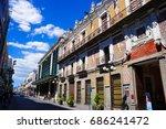 historic centre of puebla  ... | Shutterstock . vector #686241472