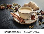 traditional indian drink  ... | Shutterstock . vector #686249962