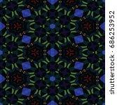 hexagonal symmetry vector...   Shutterstock .eps vector #686253952