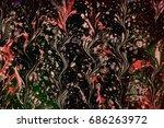 art abstract  liquid background.... | Shutterstock . vector #686263972
