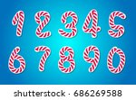candy style numbers set | Shutterstock .eps vector #686269588