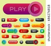 ui interface button play media...