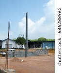 Small photo of Prefabricated building erection work