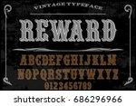 font handwritten vector...   Shutterstock .eps vector #686296966