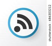 feed icon symbol. premium...