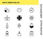 vector illustration of 12... | Shutterstock .eps vector #686304142
