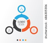 hr icons set. collection of... | Shutterstock .eps vector #686305306