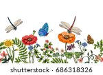 seamless border with... | Shutterstock . vector #686318326