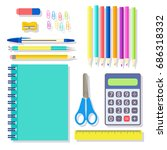 school student and office... | Shutterstock .eps vector #686318332