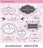valentine's day design elements | Shutterstock .eps vector #68631928