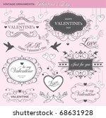 valentine's day design elements | Shutterstock .eps vector #68631928