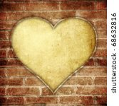 Heart Brick Wall Frame With...