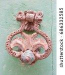 old door knocker in rovinj | Shutterstock . vector #686332585