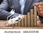 midsection of businessman... | Shutterstock . vector #686333548