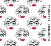 seamless pattern background... | Shutterstock . vector #686348578