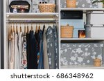 the wardrobe  closet in which... | Shutterstock . vector #686348962