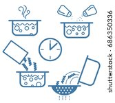 cooking process icon line  | Shutterstock .eps vector #686350336
