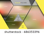 template for photo collage in... | Shutterstock .eps vector #686353396