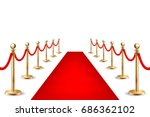 realistic vector red event... | Shutterstock .eps vector #686362102